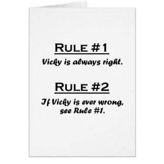 Regel Vicky Karte