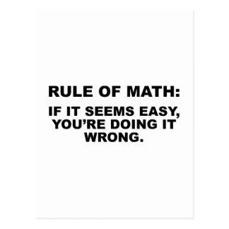 Regel von Mathe Postkarte