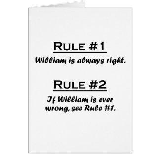 Regel William Karte