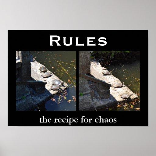 Regeln - Demotivational motivierend Poster