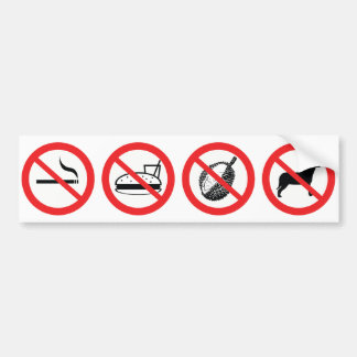 Regeln der Fahrt Autoaufkleber