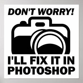 Regeln Sie es in Photoshop lustigem Plakat