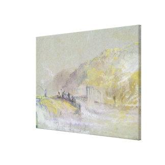 Regelwidrig durch Gott: Fluss-Landschaft mit der A Gespannte Galerie Drucke