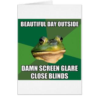 Regelwidriger Junggeselle-Frosch-schöner Tag Grußkarte