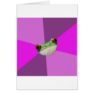 Regelwidriges Bachelorette Frosch-Ratetier Meme Grußkarte
