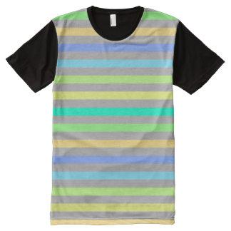 Regen-Bogen u. grauer amerikanischer T-Shirt Mit Komplett Bedruckbarer Vorderseite