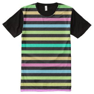 Regen-Bogen u. schwarzer amerikanischer T-Shirt Mit Komplett Bedruckbarer Vorderseite