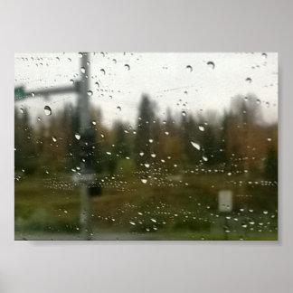 Regen-Fotografie-Druck Poster