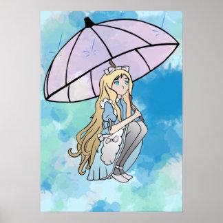 Regen-Spritzen Poster