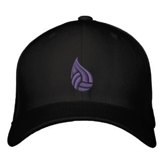 Regen-Stadt-Logo-Hut (lila Logo) Baseballcap