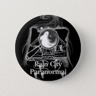 Regen-Stadt Paranormal -- Oregon-Staat Ghostie Runder Button 5,7 Cm