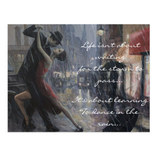 Regen-Tanz Postkarten
