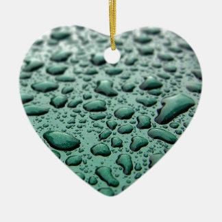 Regen-Tropfen Keramik Ornament