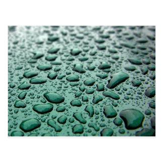 Regen-Tropfen Postkarte
