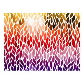 Regenbogen-abstrakter Blatt-Entwurf Postkarte