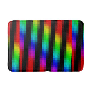 Regenbogen-abstraktes Mosaik-Fliesen-Muster Badematte