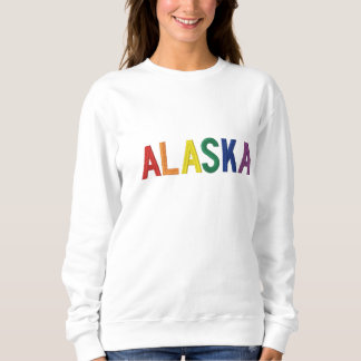 Regenbogen Alaska Besticktes Sweatshirt