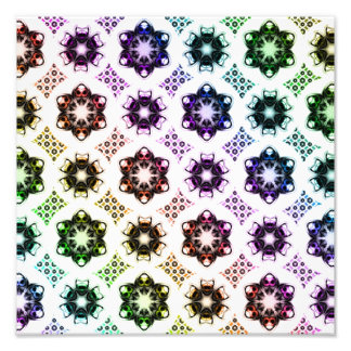 Regenbogen-alien-Augen-Fraktal-Kunst-Muster Fotos
