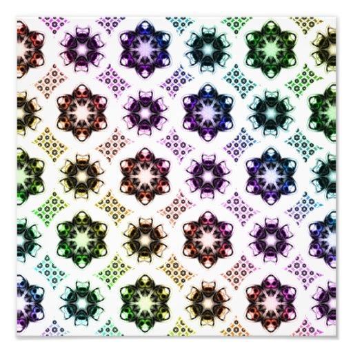 Regenbogen-alien-Augen-Fraktal-Kunst-Muster Photodrucke