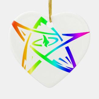 Regenbogen-Ältest-Zeichen Keramik Ornament