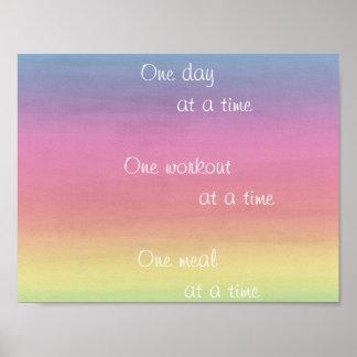 Regenbogen-Aquarell ein Tagesauf einmal Plakat