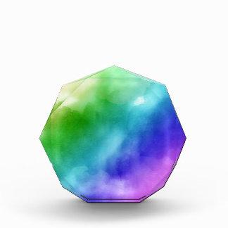 Regenbogen-Aquarelle Acryl Auszeichnung