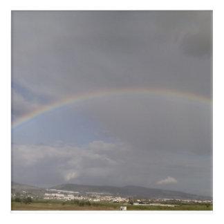 Regenbogen auf den Hügeln Acryl Wandkunst
