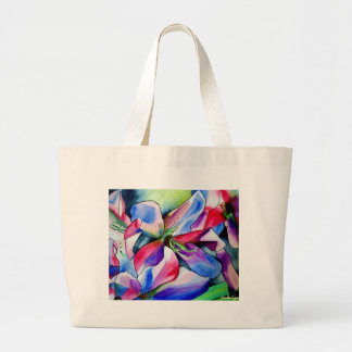 Regenbogen-Azaleen-Blume ursprüngliche Jumbo Stoffbeutel