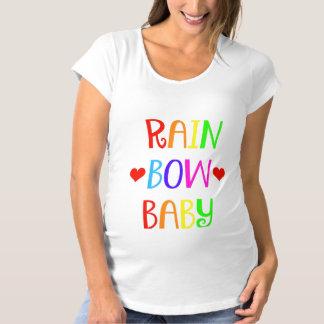 Regenbogen-Baby-MutterschaftsShirt mit Herzen Schwangerschafts T-Shirt