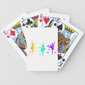 Regenbogen-Ballett Bicycle Spielkarten