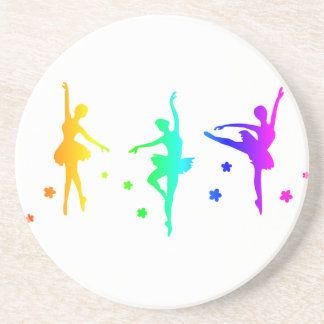 Regenbogen-Ballett Getränkeuntersetzer