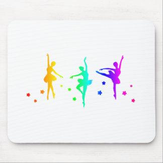 Regenbogen-Ballett Mousepad