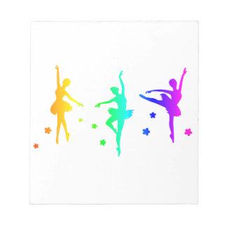 Regenbogen-Ballett Notizblock