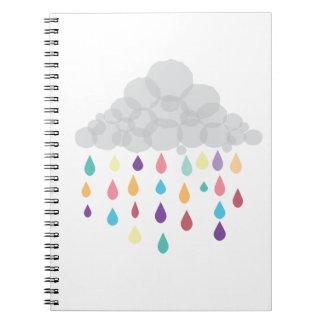 Regenbogen-Ballettröckchen Spiral Notizblock