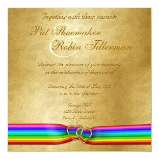 Regenbogen-Band-Doppelt-Herzen, die Einladung 6