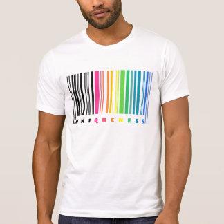 Regenbogen-Barcode-Einzigartigkeits-T - Shirt