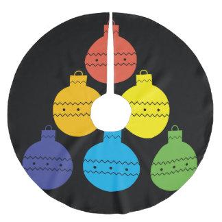 Regenbogen-Baum des Weihnachtsball-Baum-Rockes Polyester Weihnachtsbaumdecke