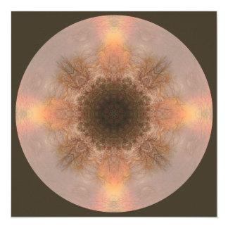 Regenbogen-Baum-Mandala-Kunst-Karte Quadratische 13,3 Cm Einladungskarte