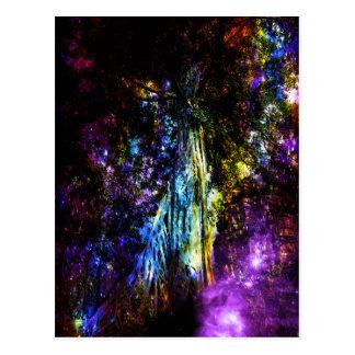 Regenbogen-Baum Postkarte