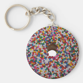 Regenbogen besprühen Krapfen-Schlüsselkette Schlüsselanhänger