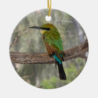Regenbogen Bieneesser Vogel, Australien Rundes Keramik Ornament