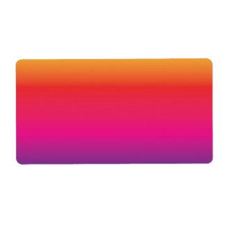 Regenbogen-Bild-Schablone