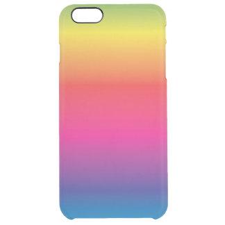 Regenbogen-Bild-Schablone Durchsichtige iPhone 6 Plus Hülle