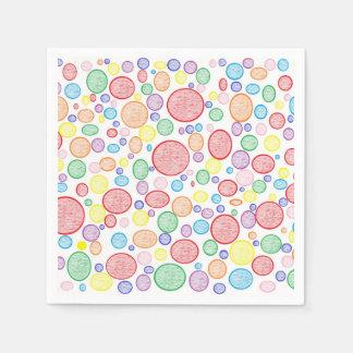 Regenbogen-Blasen erleichtert Serviette