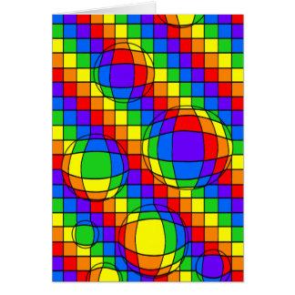 Regenbogen-Blasen-Karte Karte