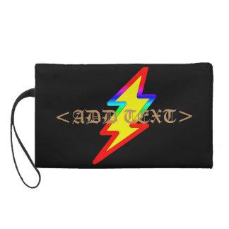 Regenbogen-Blitz Wristlet Handtasche