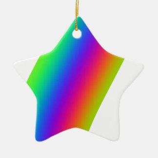 Regenbogen blühen keramik ornament