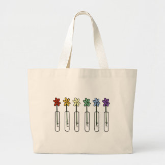Regenbogen-Blume und Becher-Wissenschaftler Jumbo Stoffbeutel