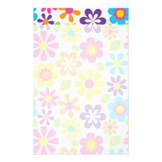 Regenbogen-Blumen-PowerHippieRetro Teens-Geschenke Büropapier