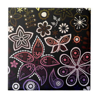 Regenbogen-Blumen-und Wanzen-Entwurf Keramikfliese